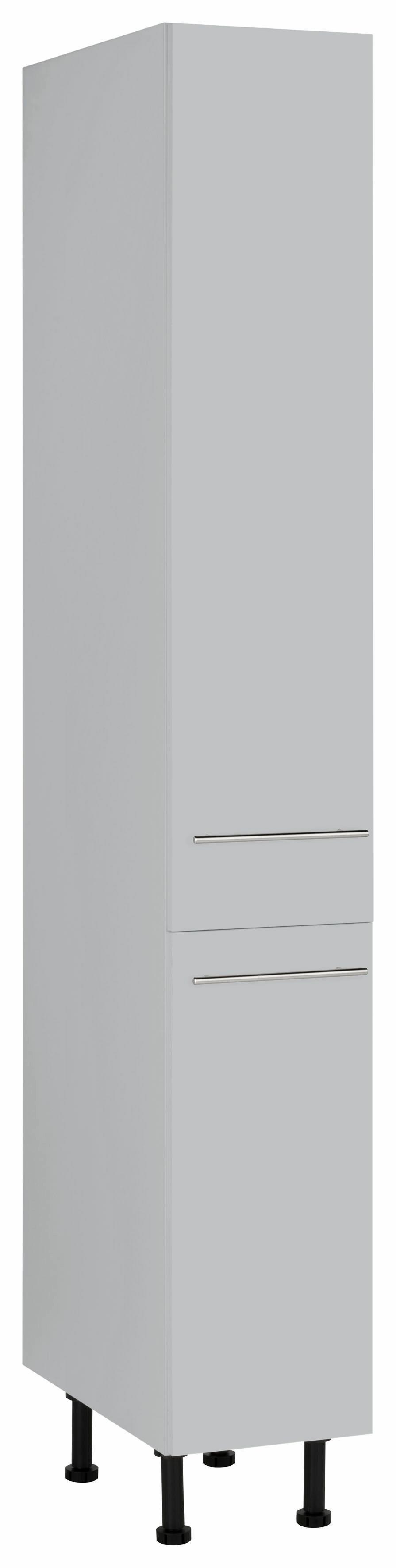 Wiho Küchen Apothekerschrank Ela mit 2 Auszügen mit Soft-Close-Funktion | Küche und Esszimmer > Küchenschränke > Apothekerschränke | Grau | Melamin | Wiho Küchen