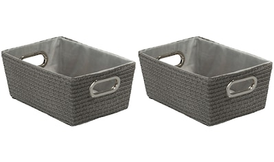 WENKO Aufbewahrungsbox »Chromo Grau«, (Set, 2 St.), grau kaufen