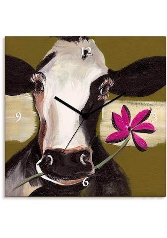 Artland Wanduhr »Glückliche Kuh I«, lautlos, ohne Tickgeräusche, nicht tickend,... kaufen