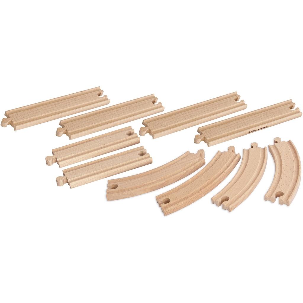 Eichhorn Gleise-Set »Schienenset, groß«, (Set, 10 tlg.), aus Holz; Made in Europe, FSC®-Holz aus gewissenhaft bewirtschafteten Wäldern