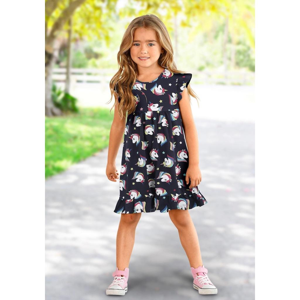 KIDSWORLD Jerseykleid, mit Einhornmuster
