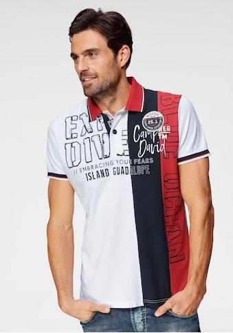 CAMP DAVID Poloshirt, mit Logofrontprint kaufen