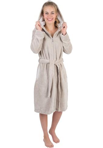 Wewo fashion Damenbademantel »6122«, (1 St., mit Gürtel), mit Schubtaschen kaufen