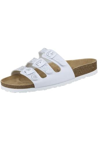 Sandale »560052«, Bioline Pantolette weiß/silber kaufen