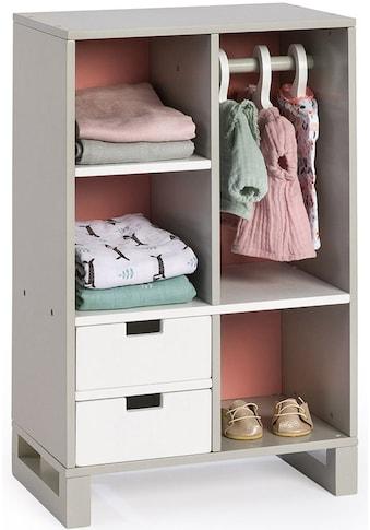 MUSTERKIND® Puppenkleiderschrank »Viola, grau/weiß/altrosa« kaufen