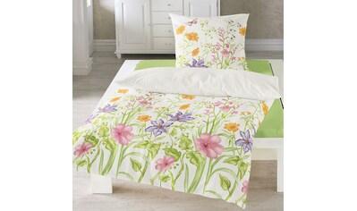 TRAUMSCHLAF Bettwäsche »Blumenwiese«, luftig leichte bügelfreie Qualität kaufen