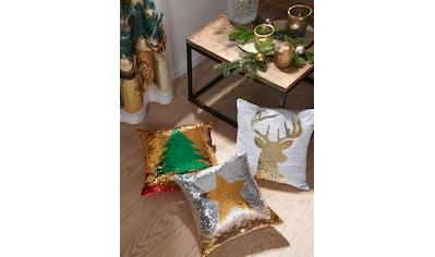 my home Kissenhülle »Weihnachtsbaum«, (1 St.), mit Wende-Pailletten kaufen