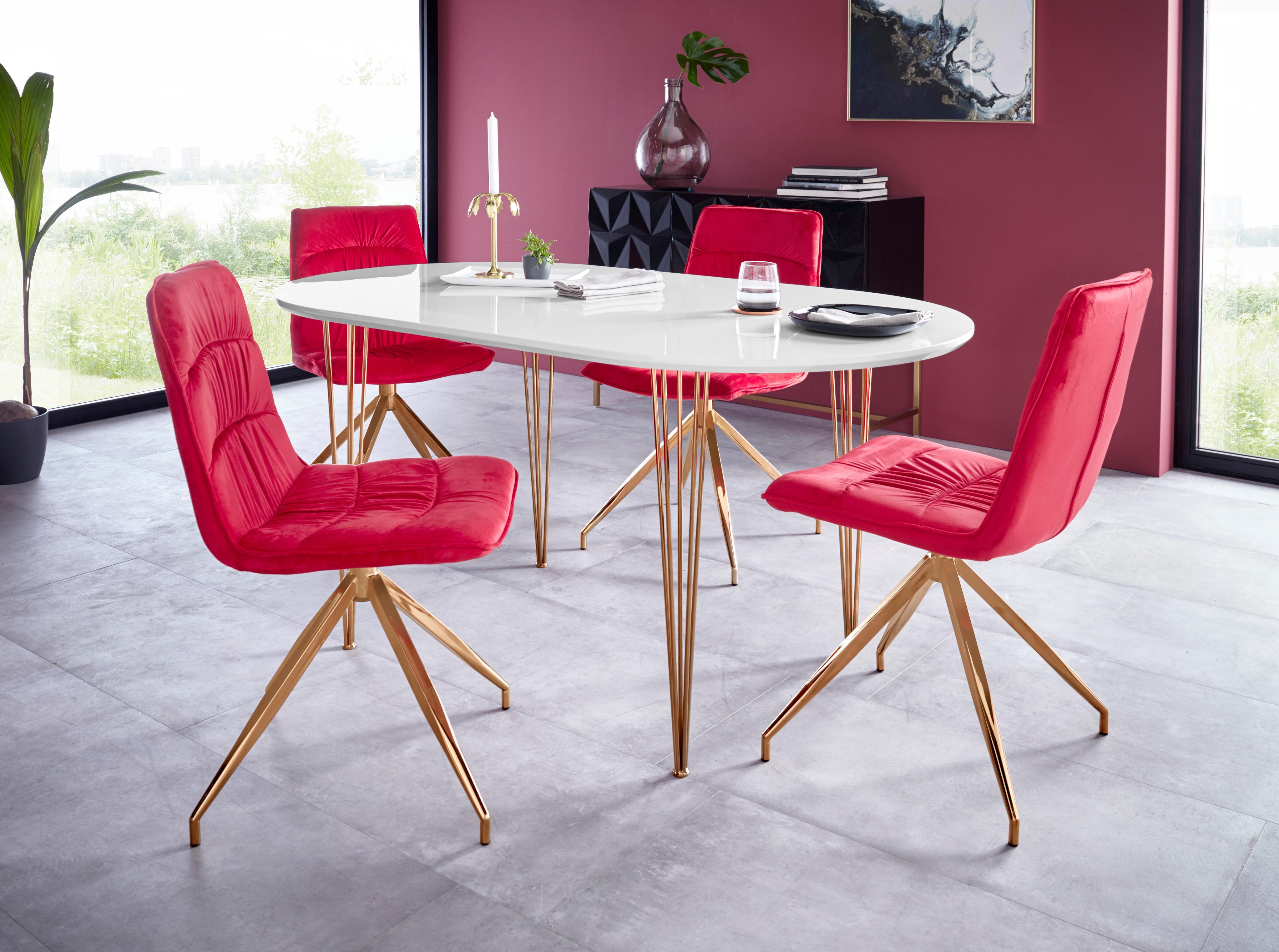 Essgruppe Elliot2/Zoe 4 Stühle und 1 Tisch Breite 160 cm