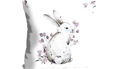 queence Kissenhülle »Emil«, (1 St.), mit einem Hasen mit Blättern kaufen