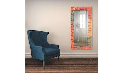 Artland Wandspiegel »Typograf«, gerahmter Ganzkörperspiegel mit Motivrahmen, geeignet... kaufen
