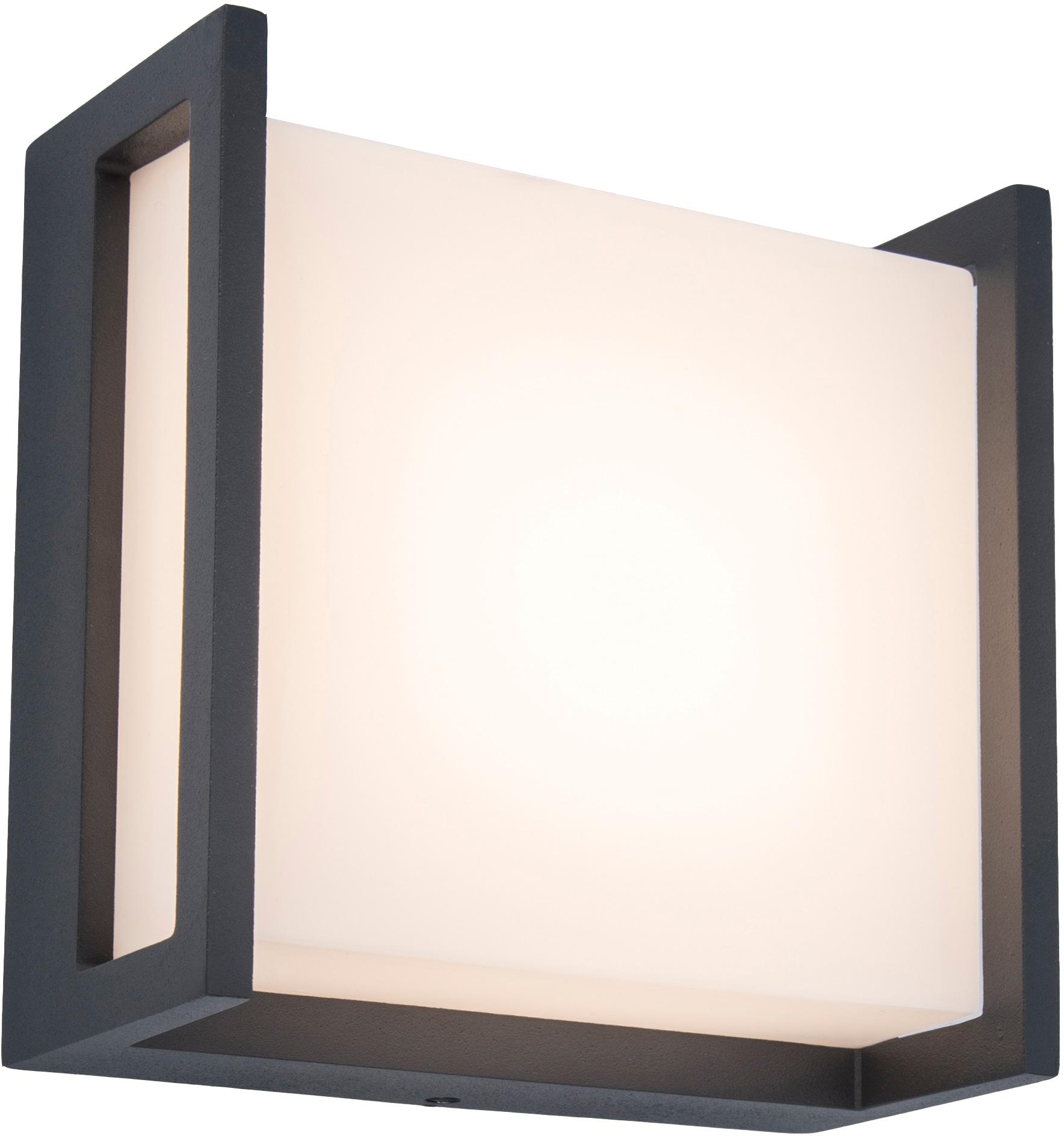 LUTEC LED Außen-Wandleuchte QUBO 5195401118, LED-Modul, 1 St., Warmweiß