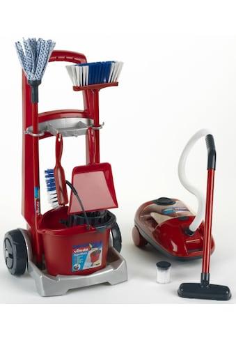 Klein Kinder-Putzwagen »Vileda Besenwagen mit Vileda Staubsauger«, mit Spielstaubsauger, Made in Germany kaufen
