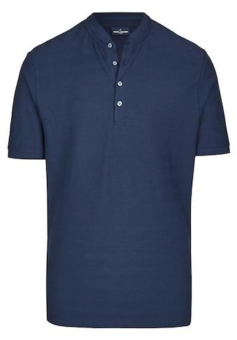 Daniel Hechter Stehkragen - Shirt mit Strukturstreifen kaufen
