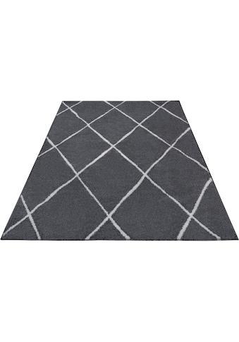 Home affaire Frisé-Teppich »Dalio«, rechteckig, 13 mm Höhe, Wohnzimmer kaufen