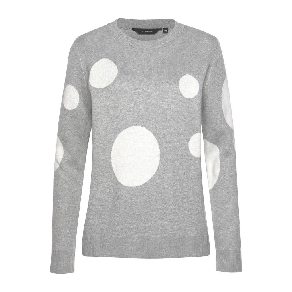 NAVIGAZIONE Pullover mit Kreismuster