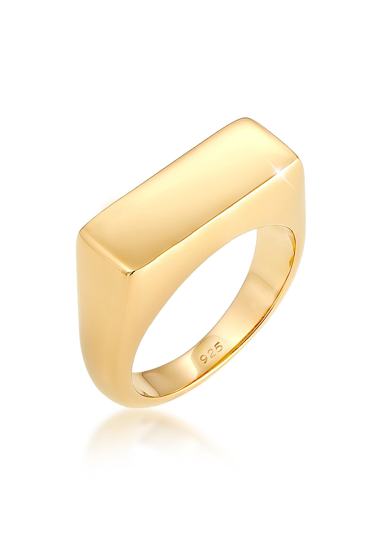 Elli Fingerring Siegelring Matt Schlicht Trend 925 Silber | Schmuck > Ringe | Elli