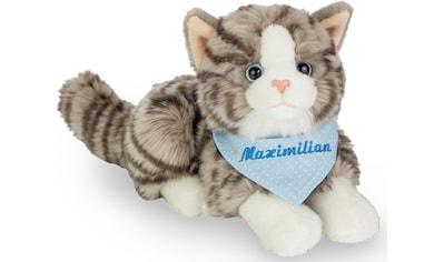 Teddy Hermann® Kuscheltier »Katze grau mit blauem Halstuch, 20 cm«, mit individueller... kaufen