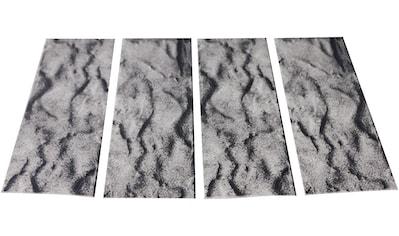 MYSPOTTI Duscheinlage »Klebefliese stepon Stein anthrazit«, 4er - Set, antirutsch, BxH: 30x10 cm kaufen