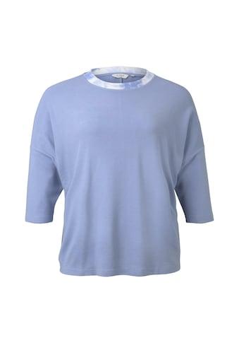 TOM TAILOR MY TRUE ME 3/4 - Arm - Shirt »3/4 Arm Shirt mit Rippkragen« kaufen