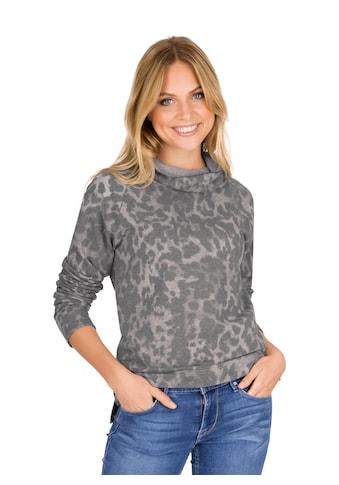 Trigema Sweatshirt mit tollem Animal-Muster kaufen