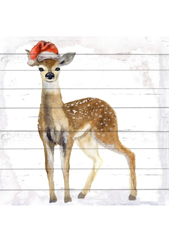 queence Holzbild »Rentier«, Weihnachten, (1 St.) kaufen