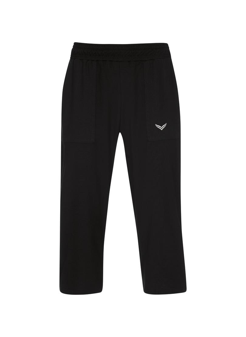 Trigema 3/4-Hose schwarz Kinder Jungen Sportbekleidung