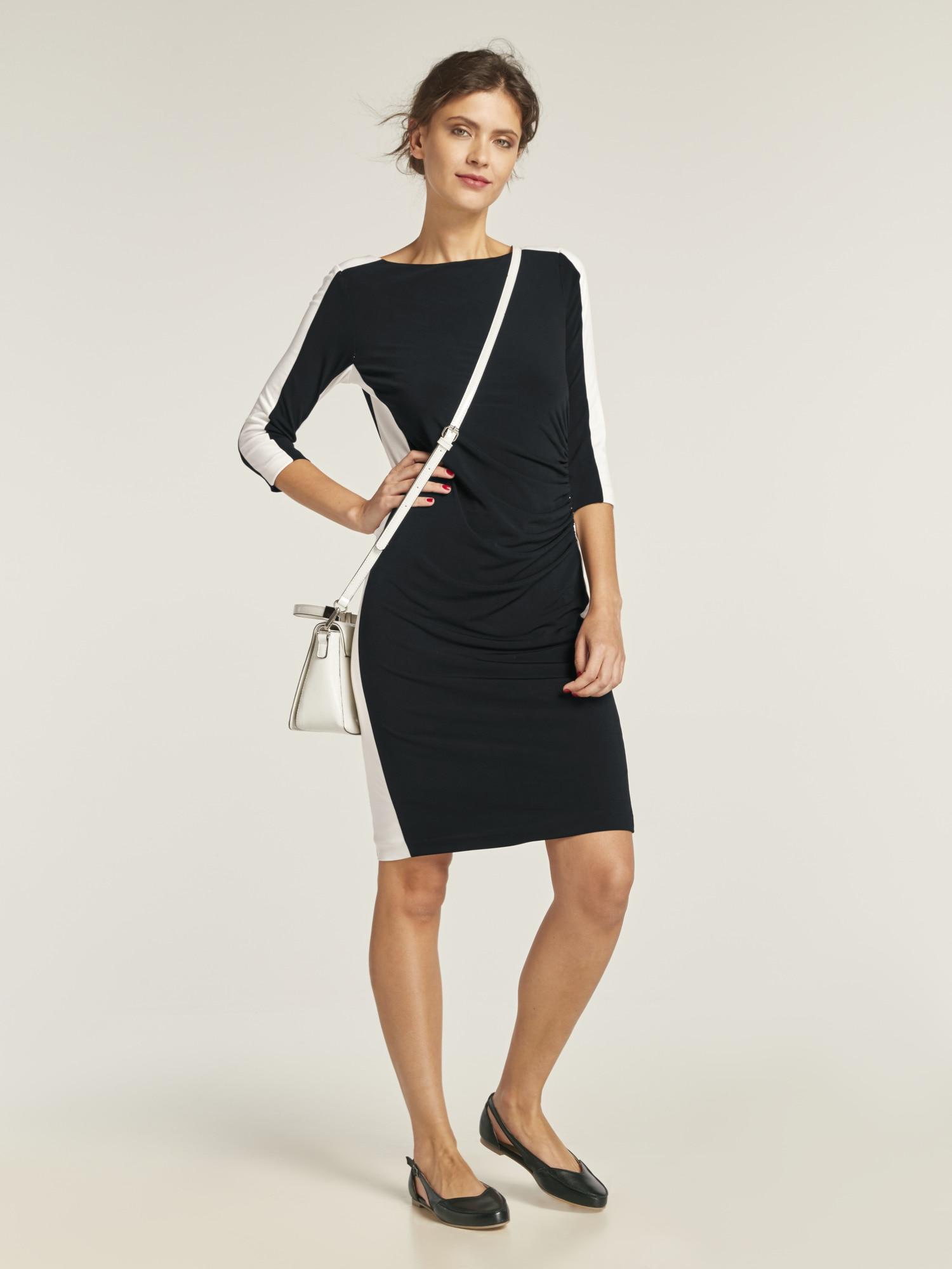 heine TIMELESS Kleid mit Kontraststreifen