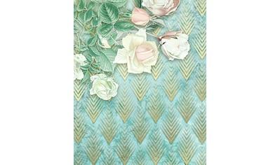 Komar Fototapete »Rose Poem«, bedruckt-floral-Gold-Optik kaufen