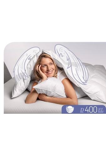 Schlafstil Daunenbettdecke »D400«, extraleicht, Füllung 90% Daunen, 10% Federn, Bezug 100% Baumwolle, (1 St.), hergestellt in Deutschland, allergikerfreundlich kaufen