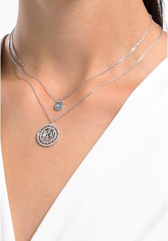 Swarovski Kette mit Anhänger »Swarovski Symbolic Mandala weiss, rhodiniert, 5541987« kaufen