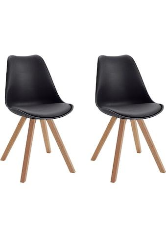 Homexperts Esszimmerstuhl »Kaja«, (2 Stück), Sitzschale mit Sitzkissen in Kunstleder kaufen