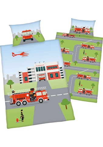 """Baby Best Babybettwäsche »Feuerwehr«, mit tollem """"Feuerwehr"""" Motiv kaufen"""