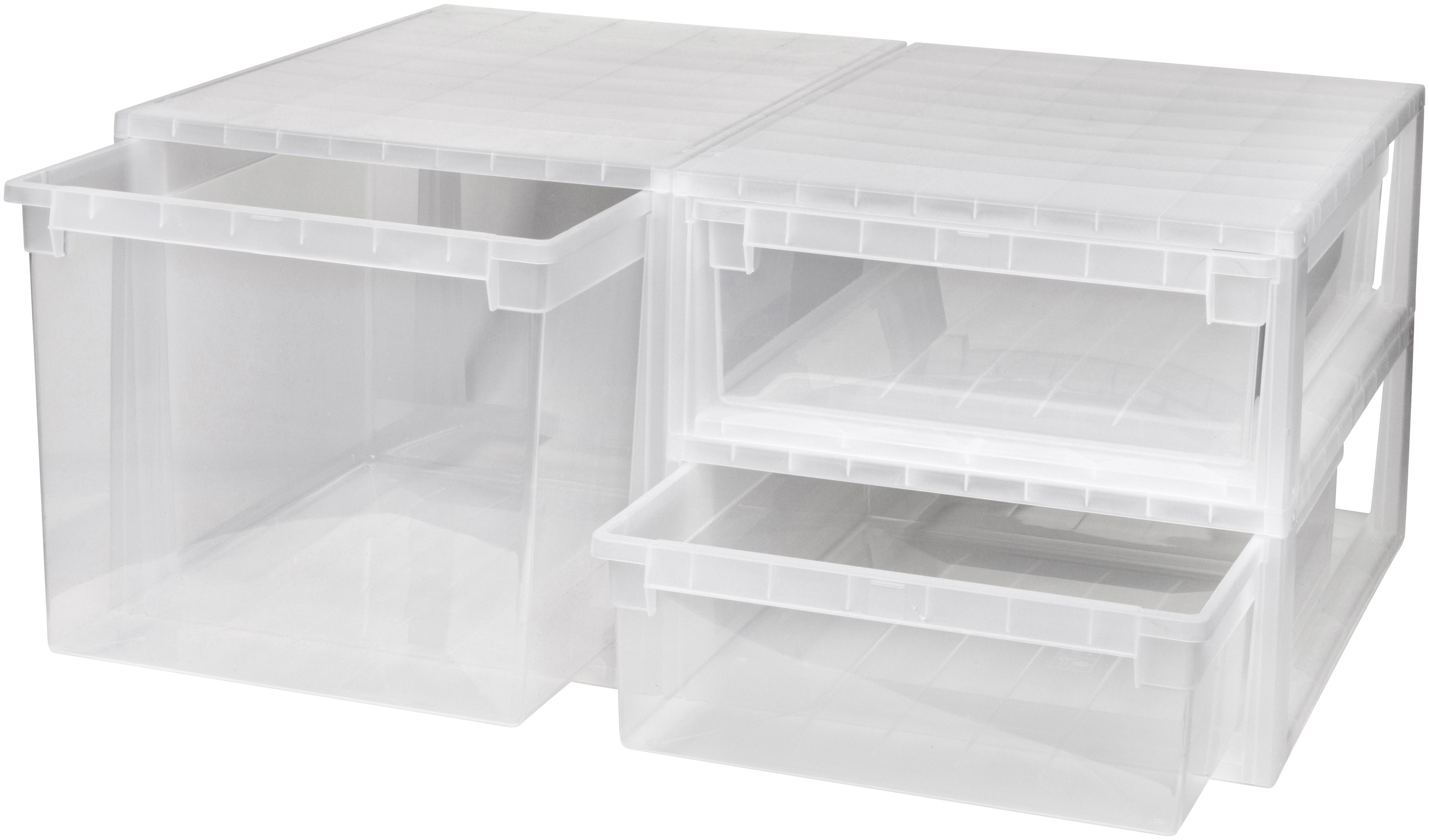 Kreher Aufbewahrungsbox, (Set, 3 St.) farblos Kleideraufbewahrung Aufbewahrung Ordnung Wohnaccessoires Aufbewahrungsbox