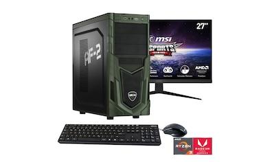 "Hyrican Gaming-PC-Komplettsystem »Military SET02153«, inklusive 27"" Monitor MSI Optix... kaufen"