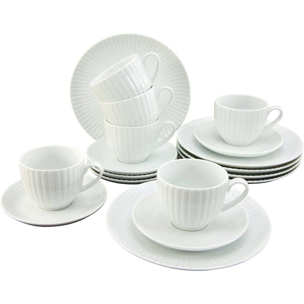 CreaTable Kaffeeservice »ALLEGRA«, (Set, 18 tlg.), im Trend-Design