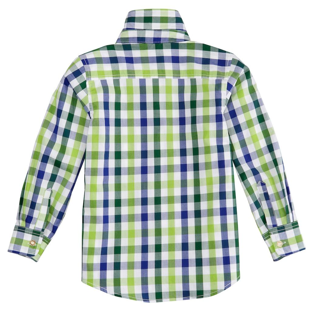 Almsach Trachtenhemd, Kinder im Karodesign