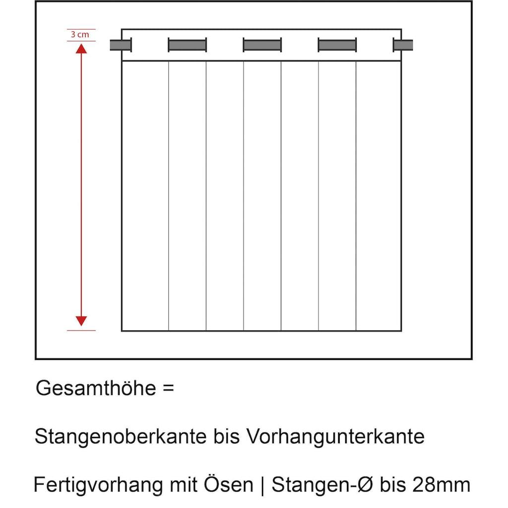 Neutex for you! Vorhang nach Maß »Allure«, Ösenschal mit Metallösen, Breite 140 cm