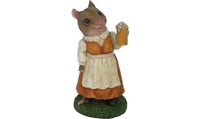 Home affaire Tierfigur »Frau Maus im Kleid mit Bierglas« kaufen