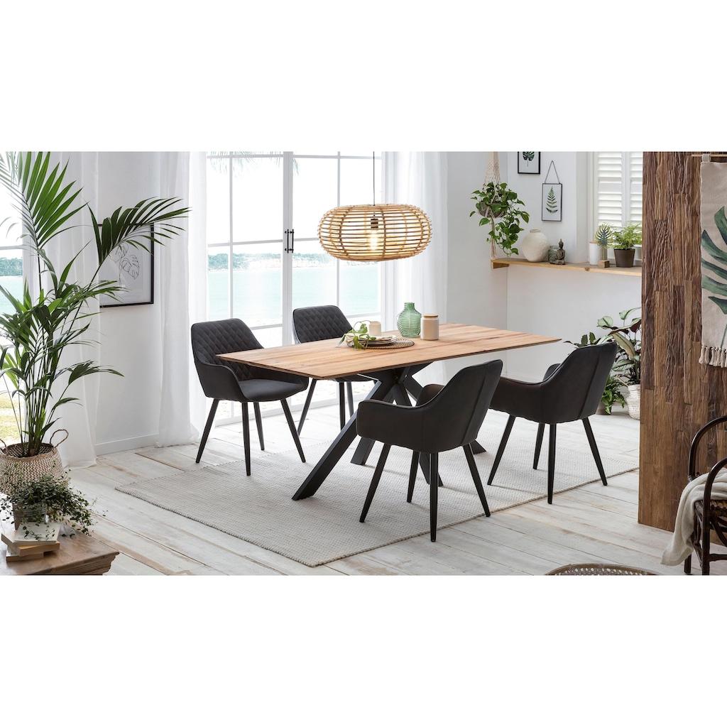Home affaire Esstisch »Montreal«, mit eleganter Schweizer Kante