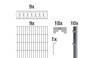 GAH Alberts Doppelstabmattenzaun »Eleganz«, anthrazit, 140 cm hoch, 9 Matten für 18 m, 10 Pfosten kaufen