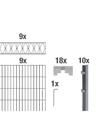 GAH Alberts Doppelstabmattenzaun »Eleganz«, anthrazit, 140 cm hoch, 9 Matten für 18 m,... kaufen