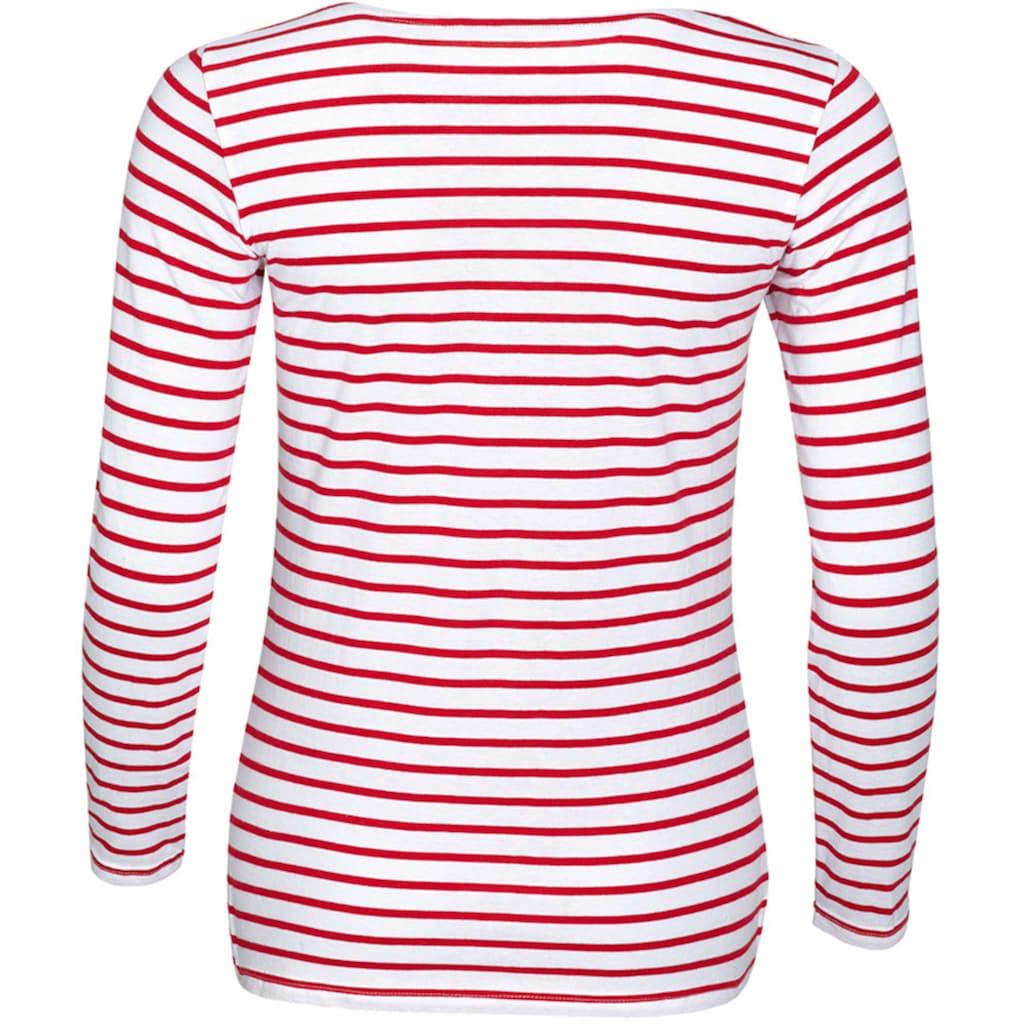 SOLS Longsleeve »Damen Marine T-Shirt, gestreift, langärmlig«
