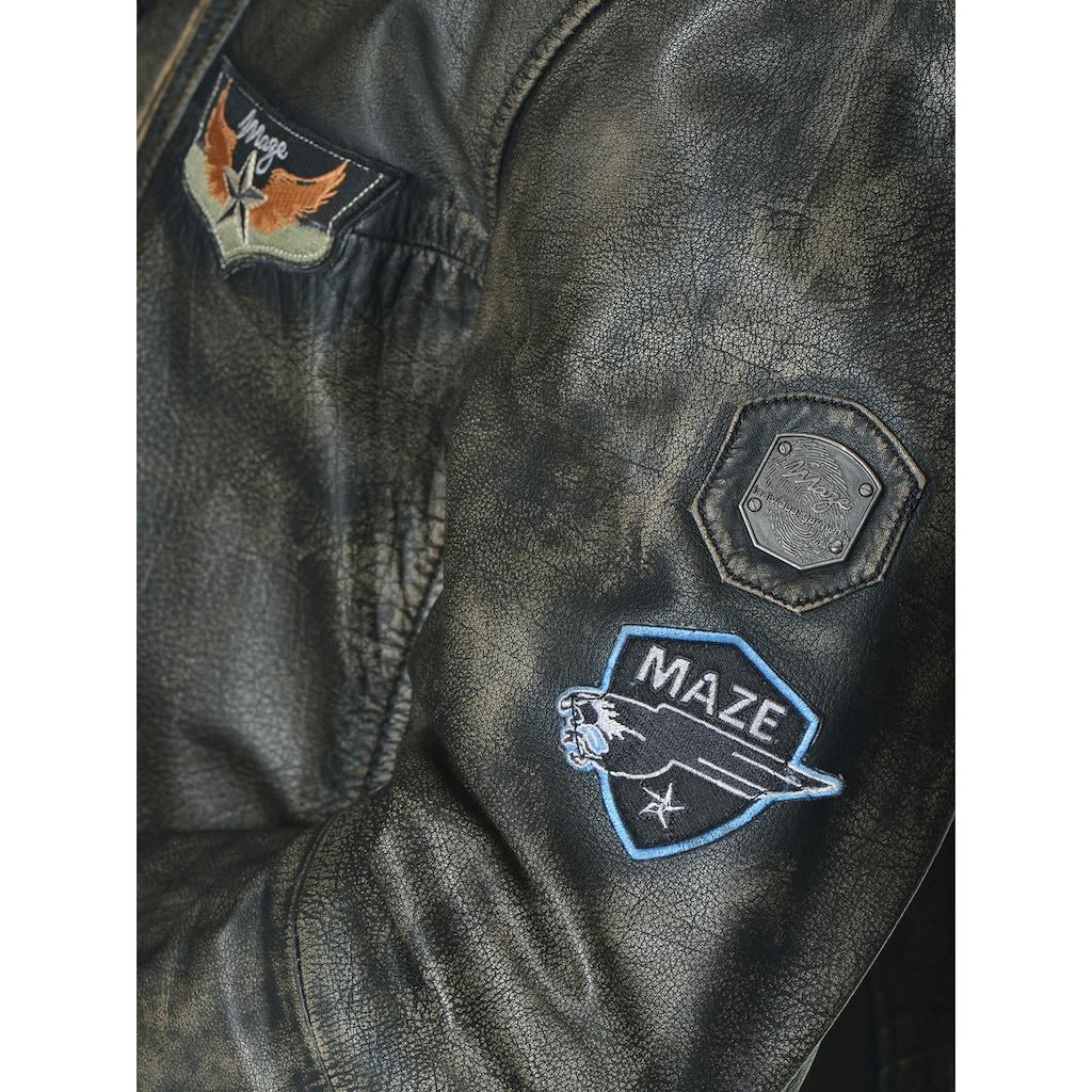 Maze Lederjacke mit Zippertaschen