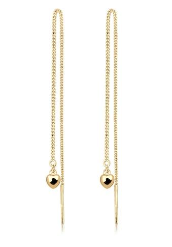 Elli Paar Ohrhänger »Herz Kette Hänger 925 Silber vergoldet« kaufen