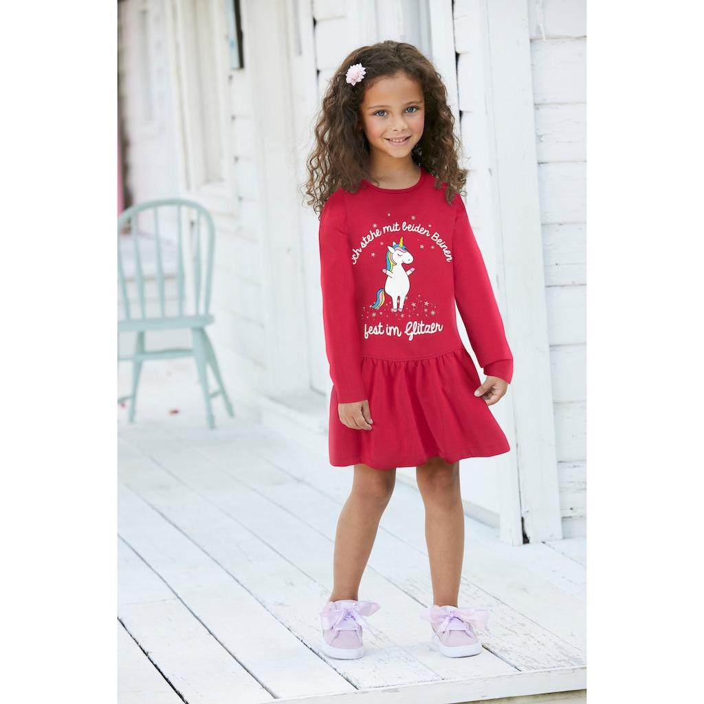 KIDSWORLD Jerseykleid »Einhorn«, mit Sprüchedruck
