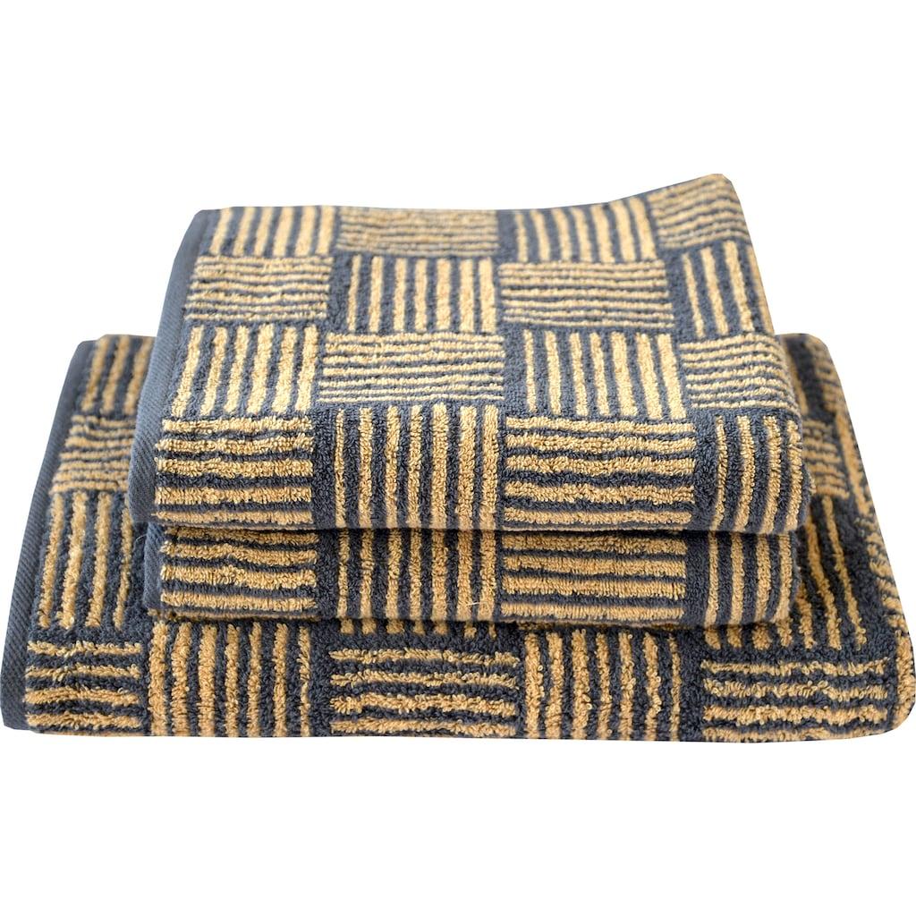Dyckhoff Handtuch Set »Golden Shades Basket«, mit graphischem Muster