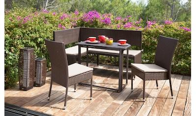 MERXX Gartentisch »Rattan«, Polyrattan, klappbar, 90x50 cm, braun kaufen