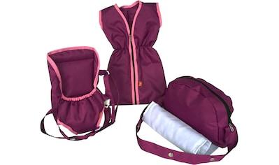 """Knorrtoys® Puppen Schlafsack """"Puppenzubehörset  -  pink purple"""", (Set, 3 - tlg.) kaufen"""