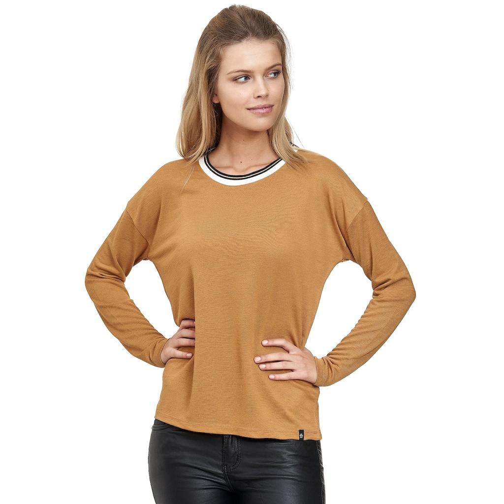 Decay Langarmshirt, mit Ausschnittblende