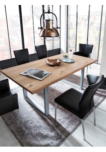 SIT Esstisch »Tops&Tables«, mit Tischplatte aus Wildeiche, mit Baumkante wie gewachsen, Shabby Chic, Vintage kaufen